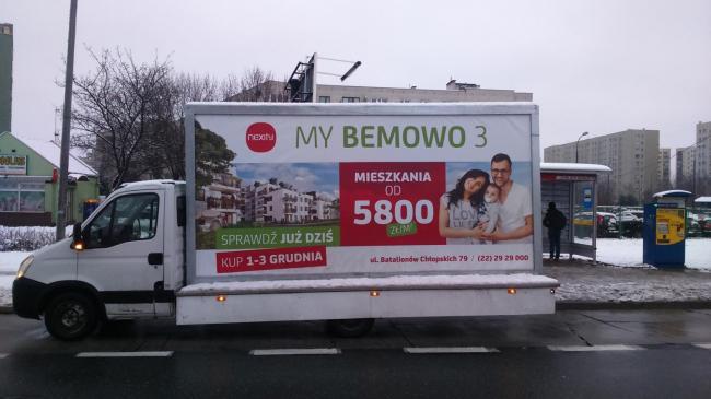 Reklama mobilna w Warszawie